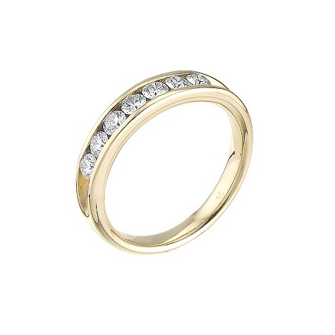 18ct gold half carat Leo Diamond eternity ring