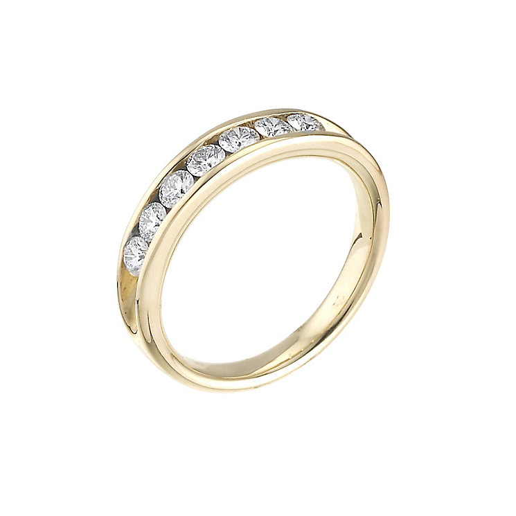 Leo Diamond 18ct yellow gold 0.50ct I-SI2 eternity ring - Product number 4743784
