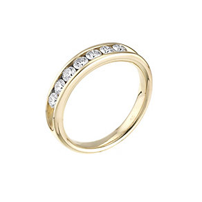 Leo Diamond18ct yellow gold 0.50ct I-SI2 eternity ring - Product number 4743784