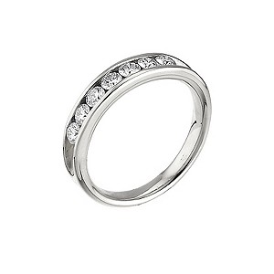 Leo Diamond platinum 0.50ct I-SI2 channel diamond ring - Product number 4743911
