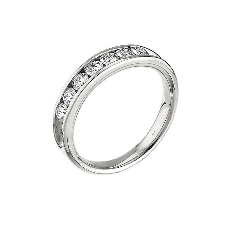 Platinum half carat Leo Diamond eternity ring