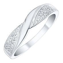 9ct White Gold 1/10 Carat Diamond Eternity Ring - Product number 4745264