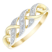 9ct Gold Diamond Set Eternity Ring - Product number 4746090