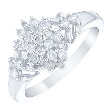 9ct White Gold 1/2 Carat Diamond Cluster Ring - Product number 4746511