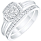 Perfect Fit Argentium Silver 1/4ct Diamond Bridal Set - Product number 4746643