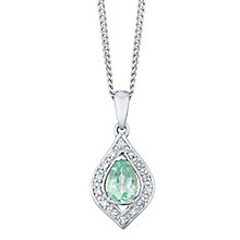 Sterling Silver Apatite & Diamond Pendant - Product number 4748921
