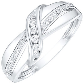 9ct White Gold 1/6 Carat Diamond Eternity Ring - Product number 4748948