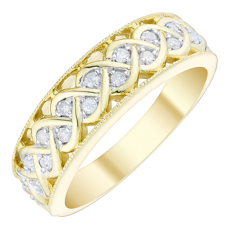 9ct Gold 0.15 Carat Diamond Eternity Ring - Product number 4749448