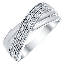 Sterling Silver 0.15 Carat Diamond Eternity Ring - Product number 4749847