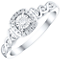 9ct White Gold 1/10 Carat Diamond Cluster Ring - Product number 4750241