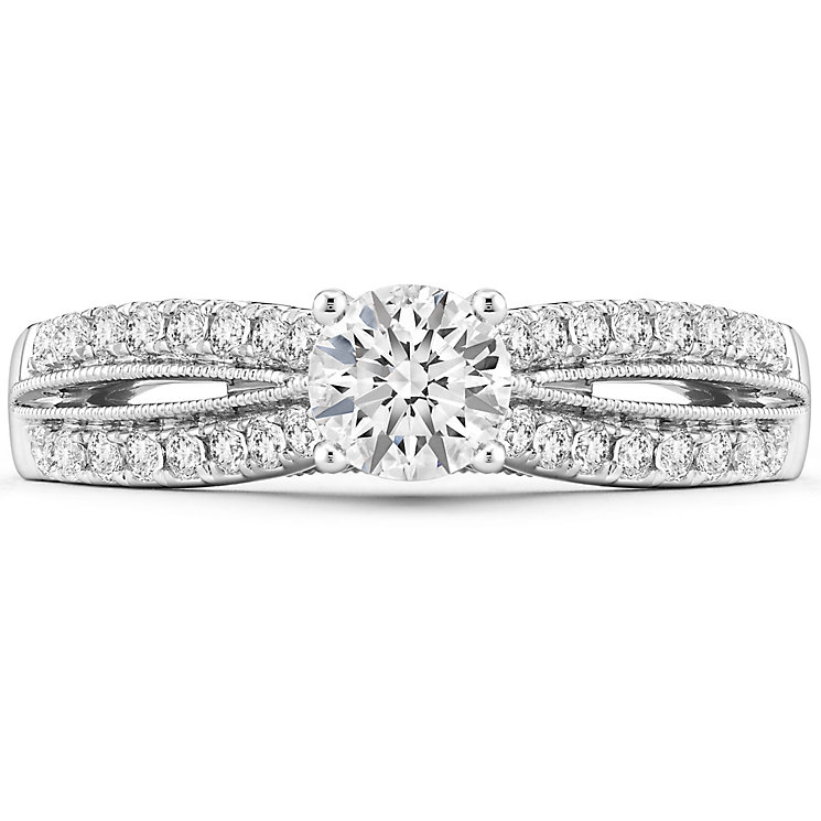 Tolkowsky 14ct White Gold 0.75 Carat Diamond Solitaire Ring - Product number 4750373