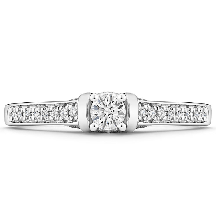Tolkowsky 14ct White Gold 0.25 Carat Diamond Solitaire Ring - Product number 4750675