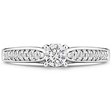 Tolkowsky 14ct White Gold 0.40 Carat Diamond Solitaire Ring - Product number 4751248