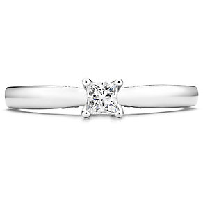 Tolkowsky 14ct White Gold 0.20 Carat Diamond Solitaire Ring - Product number 4752074