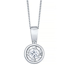 9ct White Gold 0.10 Carat Diamond Illusion Set Pendant - Product number 4753437