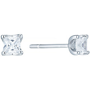 The Forever Diamond 18ct White Gold 1/4ct Diamond Earrings - Product number 4753585