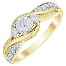 9ct Gold 1/3 Carat Diamond Solitaire Ring - Product number 4753747