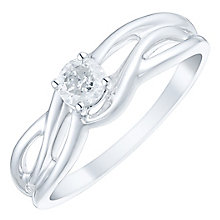 9ct White Gold 1/4 Carat Diamond Solitaire Ring - Product number 4753887