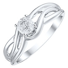9ct White Gold 1/3 Carat Diamond Solitaire Ring - Product number 4754042