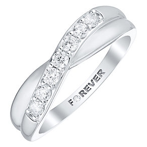 The Forever Diamond 18ct White Gold 0.28 Carat Diamond Ring - Product number 4754336
