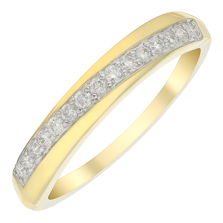 9ct Gold 0.15 Carat Diamond Eternity Ring - Product number 4754484