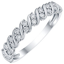 9ct White Gold 1/4 Carat Diamond Eternity Ring - Product number 4755049