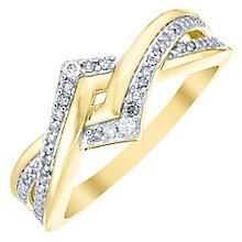 9ct Gold 0.15 Carat Diamond Set Twist Eternity Ring - Product number 4755359
