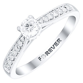 The Forever Diamond Platinum 1/3 Carat Diamond Ring - Product number 4755707