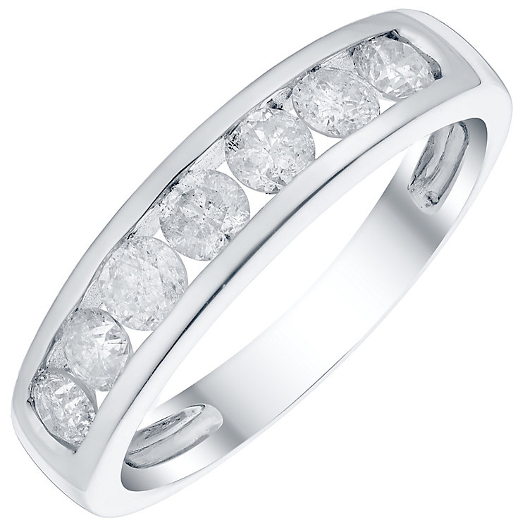 9ct White Gold 3/4 Carat Diamond Channel Set Eternity Ring - Product number 4755855