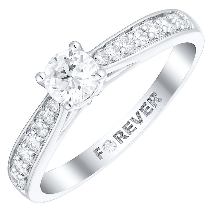 The Forever Diamond Platinum 1/2 Carat Diamond Ring - Product number 4756150