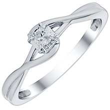 9ct White Gold Diamond Solitaire Ring - Product number 4756452