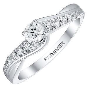 platinum 1 3 carat forever ring h samuel