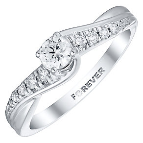 The Forever Diamond Platinum 1/3 Carat Diamond Ring - Product number 4756606