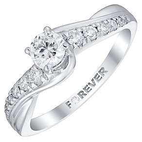 The Forever Diamond Platinum 1/2 Carat Diamond Ring - Product number 4756932
