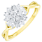 9ct Gold 1/4 Carat Diamond Cluster Ring - Product number 4757084