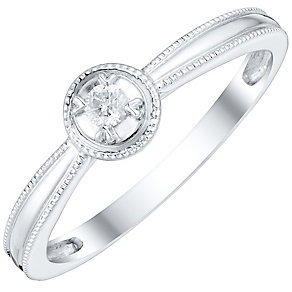 9ct White Gold Diamond Solitaire Ring - Product number 4757211