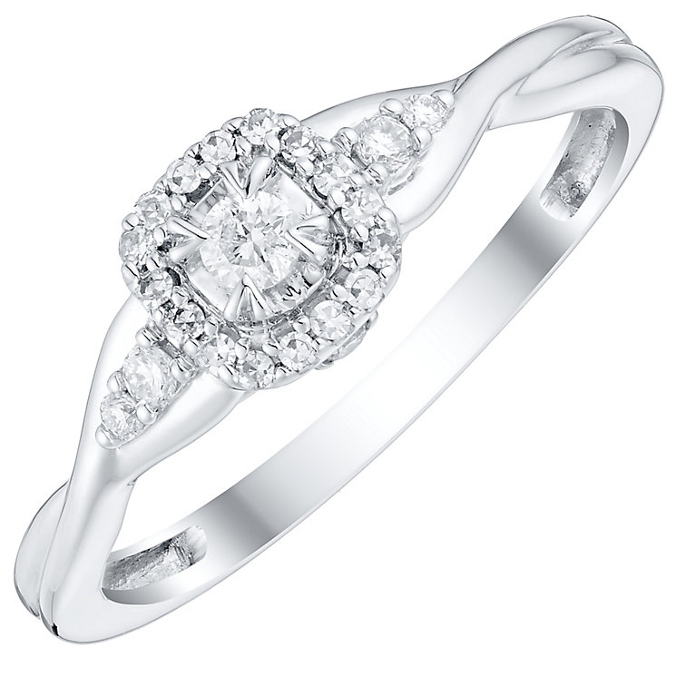9ct White Gold 0.15 Carat Diamond Solitaire Ring - Product number 4757556