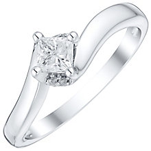 9ct White Gold 1/3 Carat Diamond Solitaire Ring - Product number 4758102