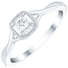 9ct White Gold 0.15 Carat Diamond Solitaire Ring - Product number 4758242