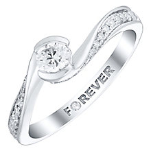 18ct White Gold 1/3 Carat Forever Diamond Ring - Product number 4760107
