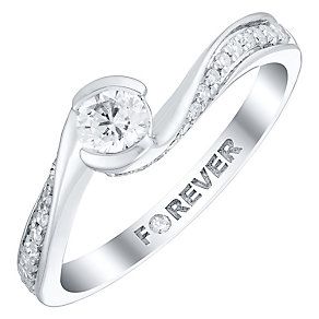 The Forever Diamond 18ct White Gold 1/3 Carat Diamond Ring - Product number 4760107