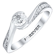 The Forever Diamond 18ct White Gold 1/2 Carat Diamond Ring - Product number 4760255