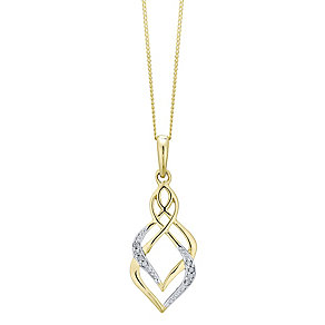 9ct Gold Diamond Set Pendant - Product number 4760700