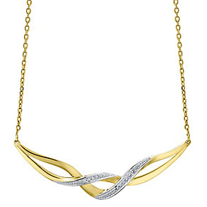 9ct Gold Diamond Set Necklet - Product number 4760735