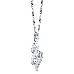 Sterling Silver Diamond Set Pendant - Product number 4760751