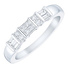 9ct White Gold 1/4 Carat Mixed Cut Diamond Eternity Ring - Product number 4760840