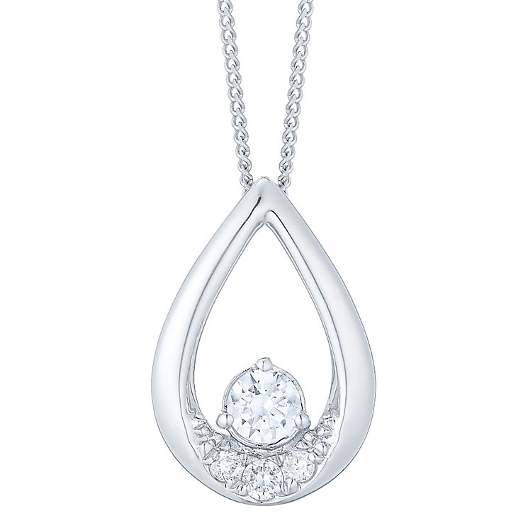The Forever Diamond 18ct White Gold 1/5ct Diamond Pendant - Product number 4761189