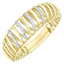 9ct Gold Diamond Set 3D Twist Ring - Product number 4762649
