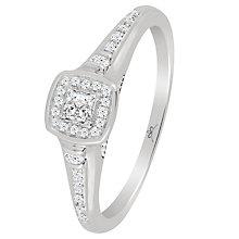 9ct White Gold 1/5 Carat Princess Cut Diamond Ring - Product number 4762959