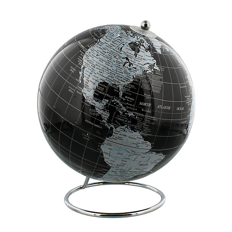 Black Globe With Metal Stand - Product number 4768477